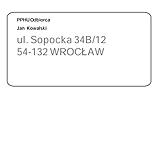 To oprogramowanie do obsługi przesyłek InPost umożliwia szybkie adresowanie etykiet - wygląd nalepki adresowej
