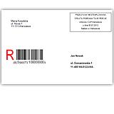 Adresowanie kopert - wybierając opcje, zaznacza się elementy, które będą wydrukowane na kopercie