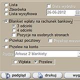 Zrzut strony ekranu: Drukowanie przelewu - szybka obsługa przesyłek w firmie