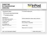 SendSystem pozwala na liczne wydruki ułatwiając obsługę przesyłek - wydruk zwrotnego potwierdzenia odbioru